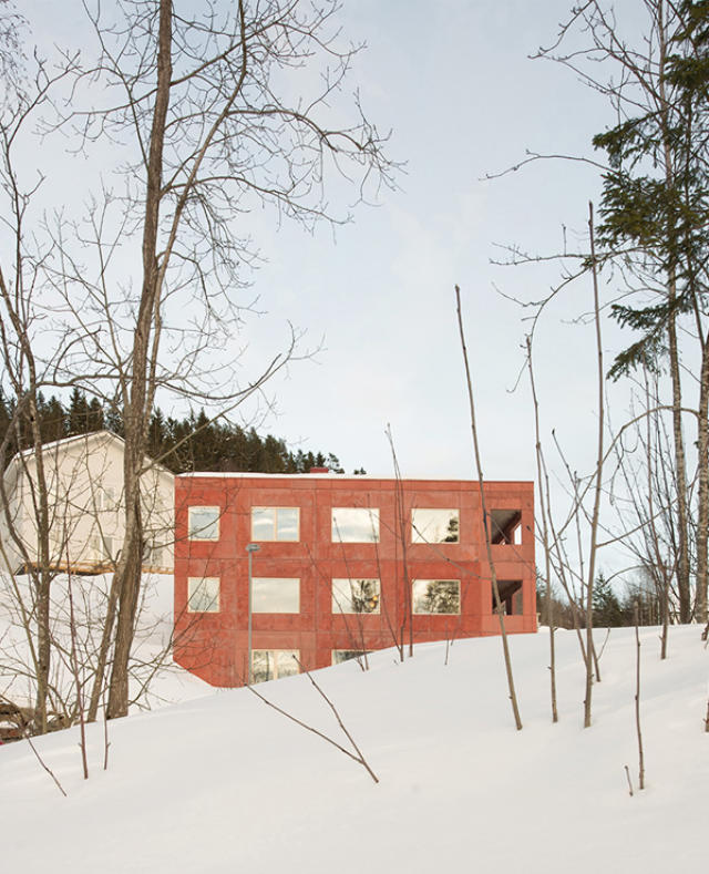 Image of House in Red Concrete